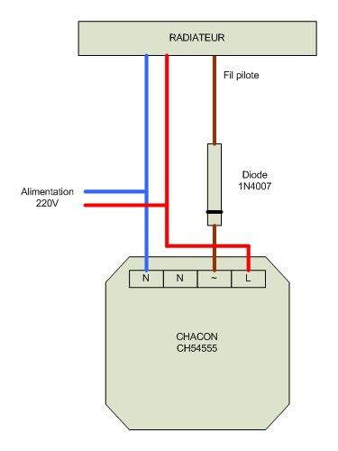 Branchement Diode