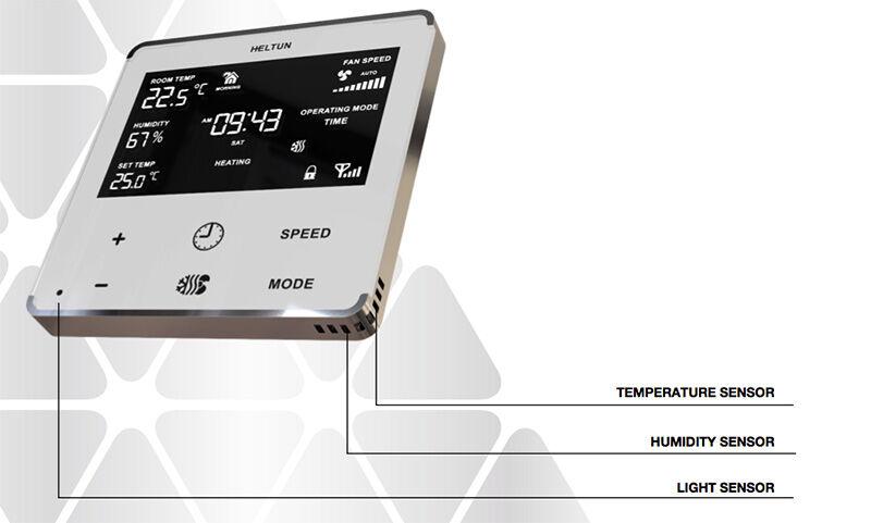 Différents capteurs du thermostat Heltun