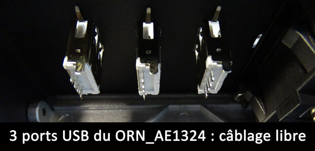 Prises USB de l'AE1324