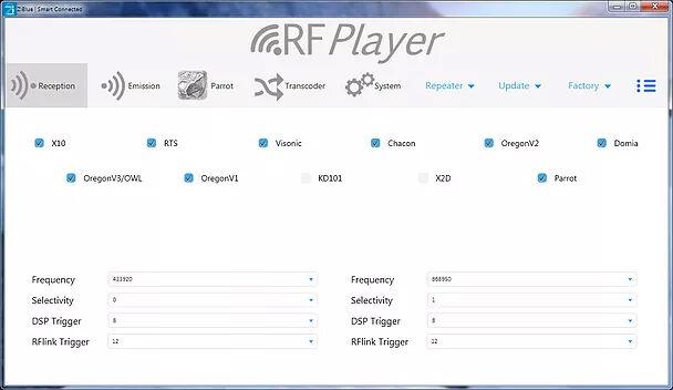 Utilitaire de configuration du RFPlayer