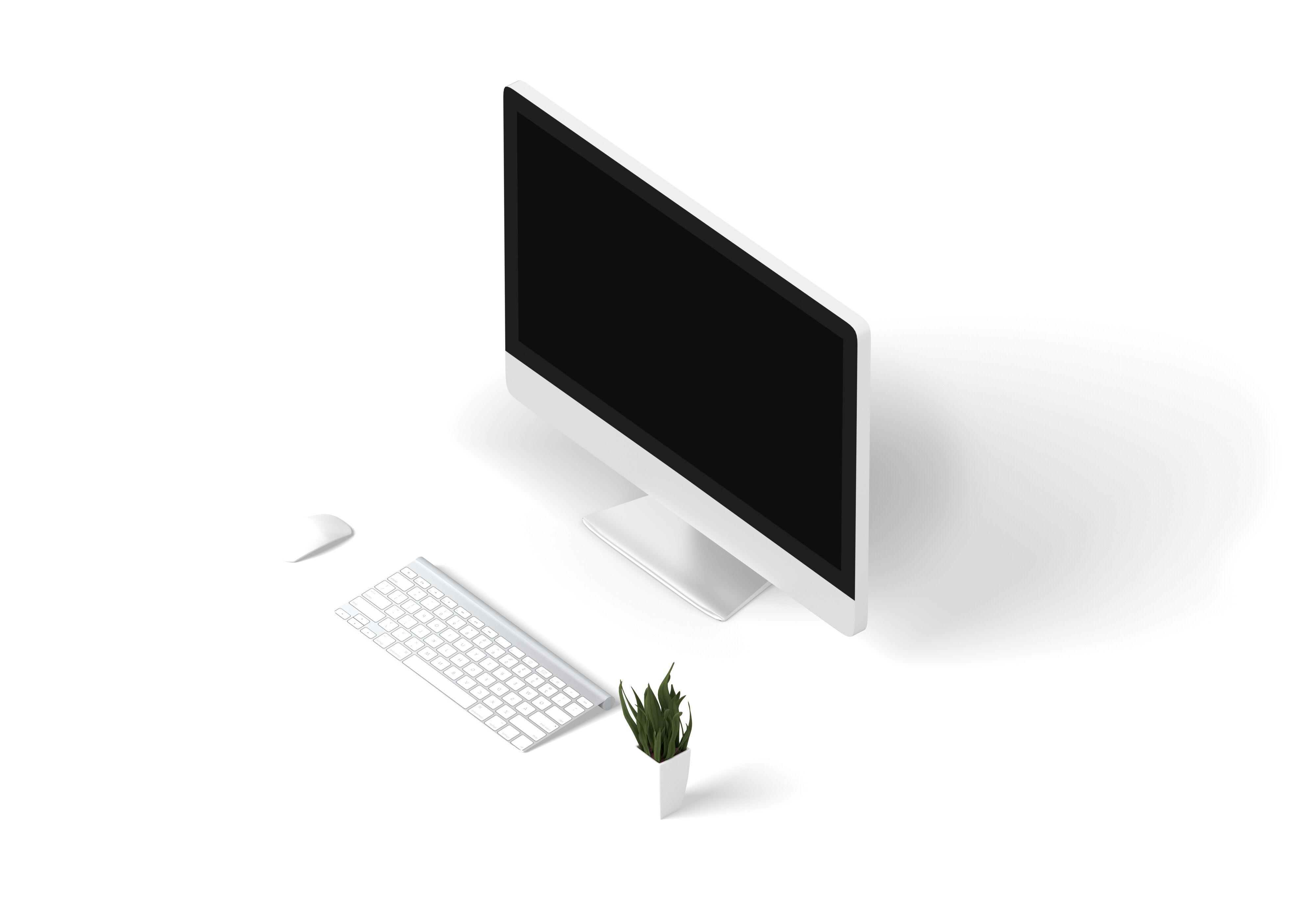 Mockup écran d'ordinateur