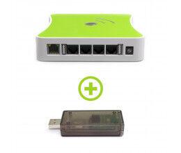 Pack Box domotique Z-Wave plus eedomus + Clé Zigate protocole Zigbee
