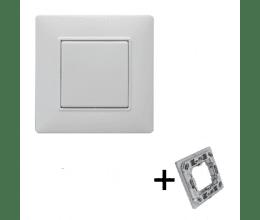 Interrupteur blanc 1 touche Plana - Vimar