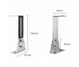 Lot de 2 supports pour barrières infrarouges (4 équerres réglables) - Alean Security