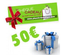 Chèque cadeau de 50 euros