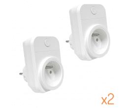 Pack de 2 Prises wifi 15A compatibles Google Home et Amazon Alexa - Wizelec