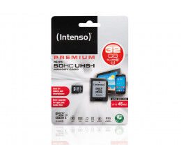 Carte micro SD 32 GB Classe 10 Premium - Intenso