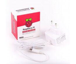 Alimentation Officielle Blanche 15.3W USB-C pour Raspberry Pi 4 - Raspberry