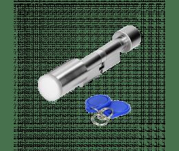 Cylindre de sécurité serrure à double bouton 35x35 mm Mifare 13.56 MHz IP65 - ORNO