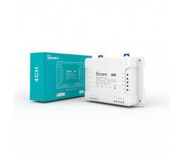 Interrupteur connecté WiFi et 433 Mhz 4 canaux - Sonoff