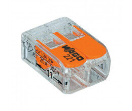 Bornier de raccordement rapide avec levier (2 bornes) - WAGO