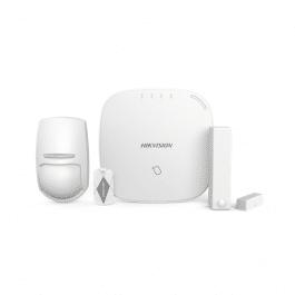 Kit d'alarme sans fil 3G/4G avec centrale, détecteurs et télécommande - HIKVision