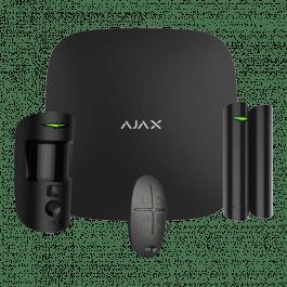 Kit d'alarme professionnel avec caméra, détecteur et télécommande noir - Ajax Systems