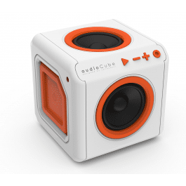 Enceinte Surround Portable AudioCube Blanc / Orange Bluetooth  - Allocacoc