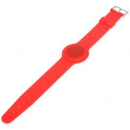Bracelet RFID couleur rouge compatible Mifare 13.56Mhz - Atlo
