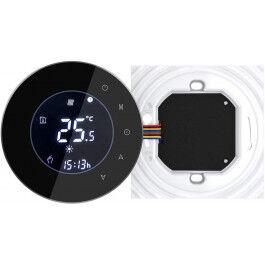 Thermostat connecté compatible Alexa et Google Home couleur noir - BECA