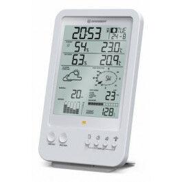 Station météo radio 5 en 1 blanche avec Température, humidité et mesure du vent - Bresser