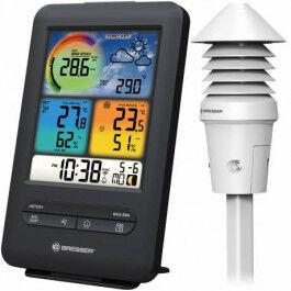 Station météo couleur avec capteur UV, luminosité, température et humidité - Bresser