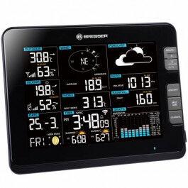 Station météo WiFi professionnelle 6 en 1 UV, vent et température - Bresser