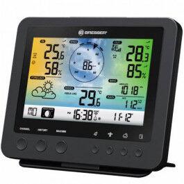 Station météo WiFi noire avec capteur 5 en 1 et écran en couleur - Bresser