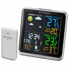 Station météo avec écran couleur, thermomètre et hygromètre - Bresser