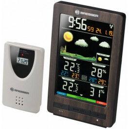 Station météo ClimaTemp avec écran couleur et finition bois - Bresser