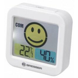 Thermomètre et Hygromètre avec indicateur de climat intérieur blanc - Bresser