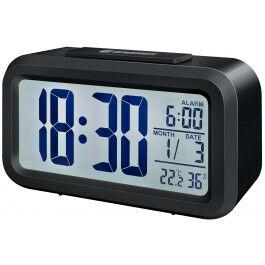 Réveil digital avec affichage de température et d'humidité couleur noir - Bresser