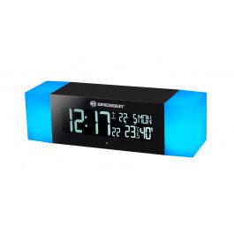 Réveil digital radio piloté avec connectivité Bluetooth et effet Sunrise - Bresser