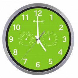 Horloge murale 25cm MyTime avec température et humidité couleur verte - Bresser