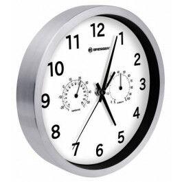Horloge murale 25cm MyTime avec température et humidité couleur blanche - Bresser