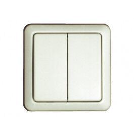 Interrupteur mural sans fil double -Blanc- Chacon