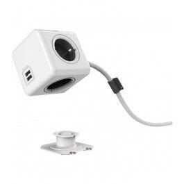 PowerCube 3 prises et 1 USB avec station de fixation