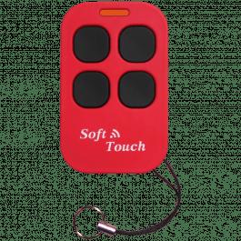 Télécommande universel Soft Touch duplicateur 433.92 MHz version longue portée rouge - Creasol