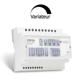 Récepteur actionneur rail din 4 sorties 500W et 7 entrées compatibles Edisio sans-fil