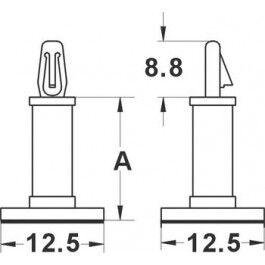 Entretoise Autocollante - 7.9mm - Diam. 3.2