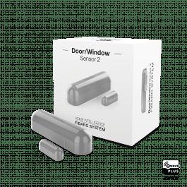 Détecteur d'ouverture Z-Wave gris avec sonde de température - Fibaro