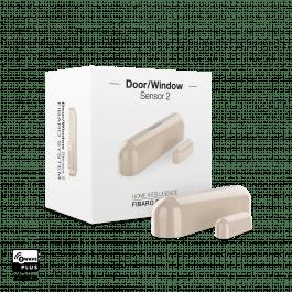 Détecteur d'ouverture Z-Wave beige avec sonde de température - Fibaro
