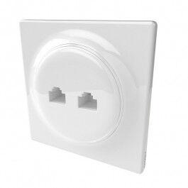 Prise murale 2 ports RJ45 Walli Ethernet - Fibaro