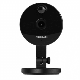 Caméra IP C1 noire HD grand angle vision nocturne WiFi - Foscam