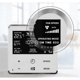 Thermostat chaud et froid pour ventiloconvecteur Blanc et Argent - Heltun