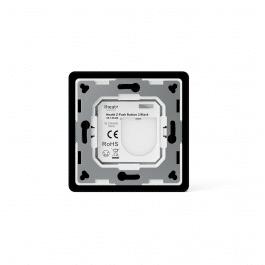 Télécommande murale noire sans fil Z-Wave à deux boutons - HeatIt