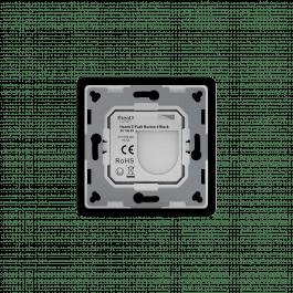 Télécommande murale noire sans fil Z-Wave à quatre boutons - HeatIt