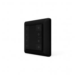 Télécommande murale noire sans fil Z-Wave à huit boutons - HeatIt