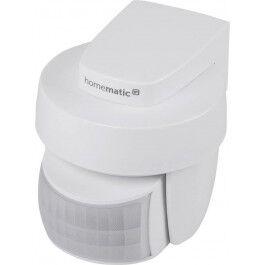 Détecteur de mouvement et luminosité extérieur blanc - Homematic