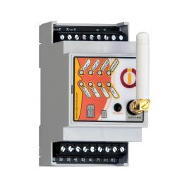 Boitier Rail-DIN pilotable par GSM et Bluetooth avec détection de coupure de courant IQconbox mobile - IQTronic
