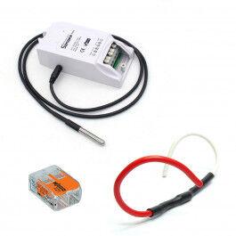 Kit de gestion de chauffage fil pilote WiFi avec sonde de température compatible Google & Alexa