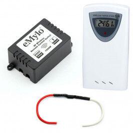 Kit de gestion de chauffage fil pilote 433 Mhz compatible RFXcom avec sonde de température
