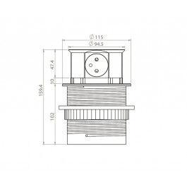 Bloc prises escamotables 4x 250V - Orno