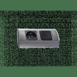 Bloc cuisine 1 prise avec interrupteur indépendant - Orno